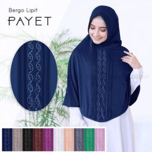 Jilbab instan / Bergo Lipit Payet with pad jersey