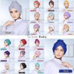 jilbab turban / Turban Ruby bubble crepe rubiah