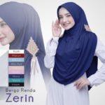 Jilbab Instan / kerudung Bergo Renda Zerin with pad jersey