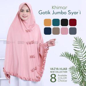 Jilbab Instan / jilbab Khimar Gotik Jumbo Syari stella