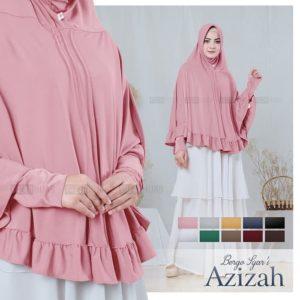 Jilbab instant / Jilbab Bergo lengan Azizah jersey with pad