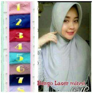 Jilbab bergo laser minni
