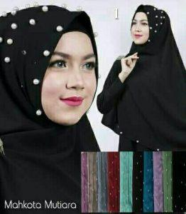 Jilbab khimar mahkota mutiara