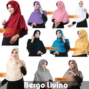 jilbab bergo livina premium