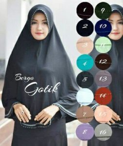 Jilbab bergo Gotik jumbo jersey