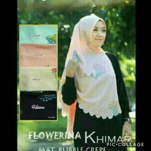 Jilbab khimar flowerina laser