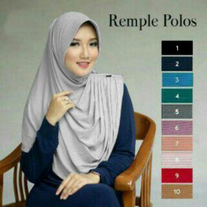 Jilbab instan remple polos with pad