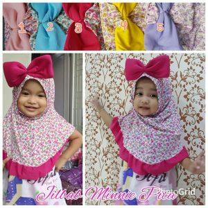 Jilbab anak Minnie pita