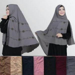 Jilbab khimar puspa bordir