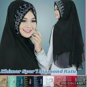 Jilbab khimar syar'i diamond ratu