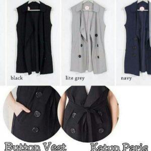 Button vest bahan katun