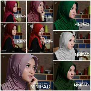 Jilbab instan rumana polos minipad jersey