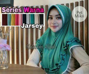 Jilbab instan pet mikri jersey
