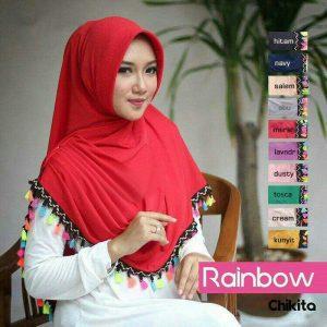 Jilbab instan rainbow