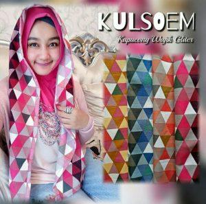 Jilbab hoodie wajik glitter