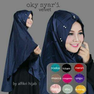 Jilbab khimar oky syari velvet