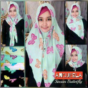 Jilbab instan sinsan segiempat butterfly