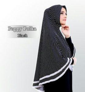 Jilbab khimar poppy polka