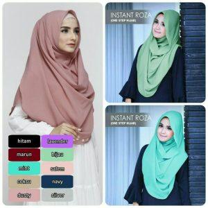 Jilbab Instant Roza Diamond crepe
