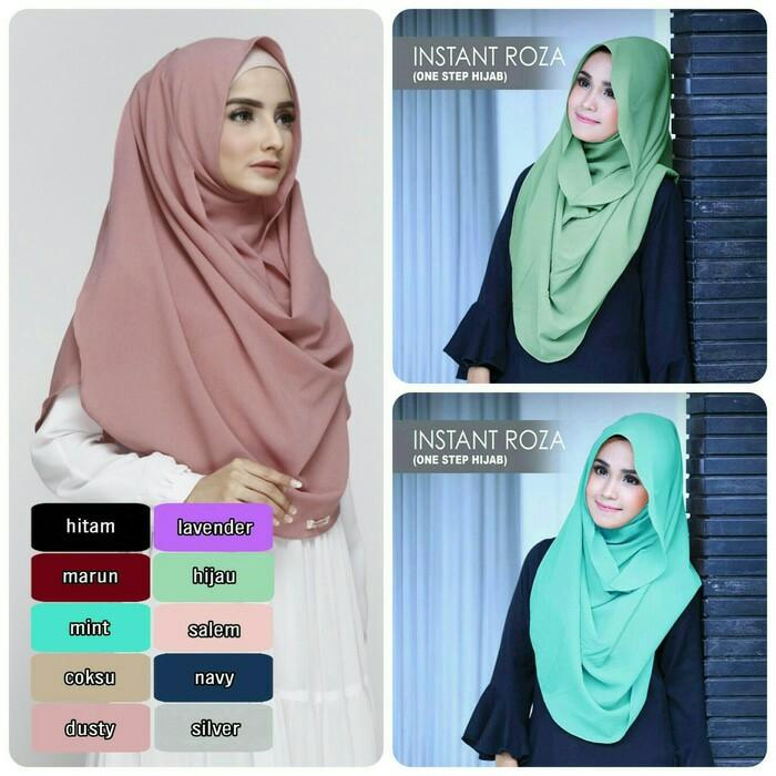 Jilbab Instant Roza Diamond Crepe Www Ummigallery Com