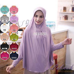 Jilbab instan / Hijab Bergo Lengan Lubnah Jumbo