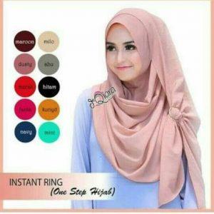 Jilbab Instan / Hijab Instan Ring buble pop