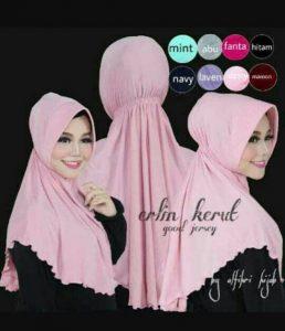 Jilbab instan / Hijab Instan Erlin Kerut with pad