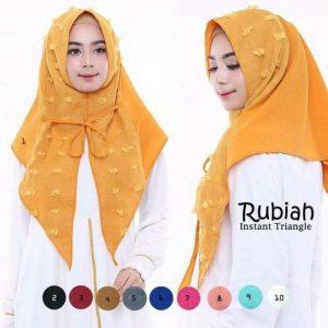 Jilbab instan / Jilbab Rubiah Instant Triangel
