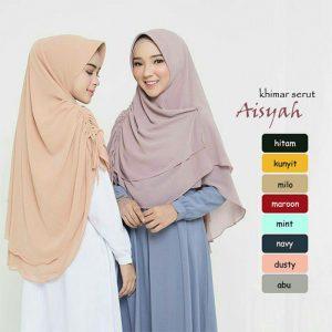 Jilbab Instan / Khimar Aisyah Serut sifon ceruti