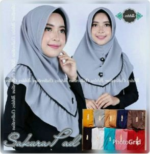 Jilbab Instan Sakira Pad Jersey zoya