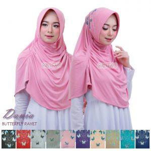 Jilbab instan / Hijab Instan Dania Butterfly Payet