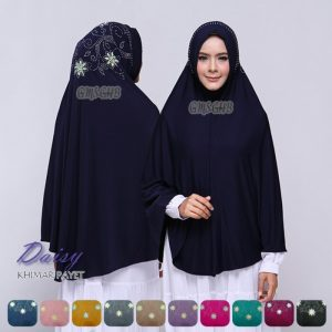 Jilbab instan / Khimar Payet Daisy jersey zoya