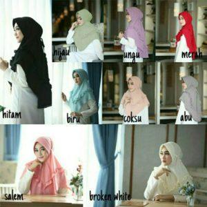 Jilbab instan / Hijab Instan Madu buble pop
