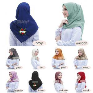 Jilbab instan / Hijab Instant Salwa Bunga Diamond crepe