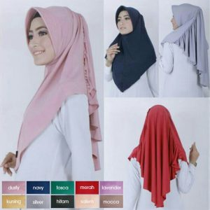 Jilbab instan / Hijab Bergo Laras antem jersey zoya