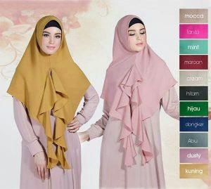 Jilbab instan / Hijab Khimar Sheeva soft pad wollycrepe