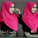 Jilbab instan / Hijab Alice Candy Lipit Kancing pad antem jersey