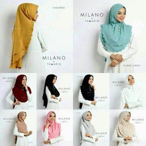 Jilbab instan / Khimar Milano soft pad 2 layer diamond hight