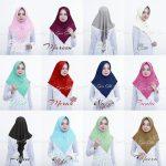 Jilbab instan / Hijab Instan Kimmy Rubiah with pad diamond crepe
