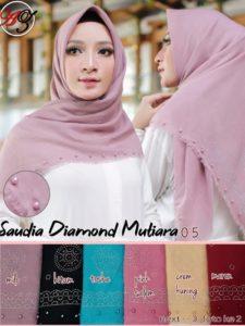 Jilbab Segi Empat Saudia Mutiara Diamond Seri : 05 (min 3 pcs)