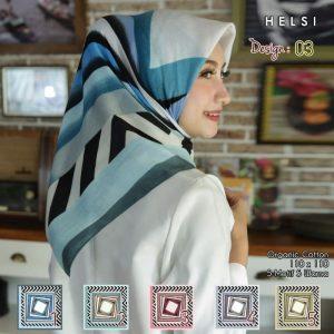Detail Produk Jilbab Segi Empat Katun HELSI Motif Seri SIGNARICA 03 (min 5 pcs)