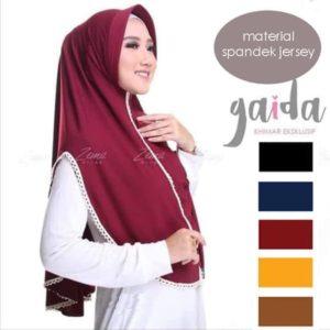 jilbab instan / Hijab Instan Gaida Renda jersey balon