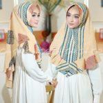Jilbab instan / hijab / Khimar Amanda Daun with pad bubble print
