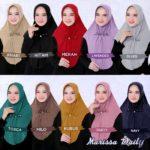 Jilbab instan pad antem / Hijab Marissa Daily diamond crepe