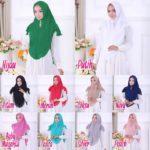 Jilbab Instan softpad antem / Hijab Khimar Hanum Swarovski ceruti