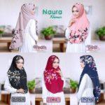 Jilbab instan sofpad antem / Hijab Khimar Naura bubbleprint