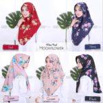 Jilbab Instan  / Hijab Minipad Moonflower with pad bubbleprint