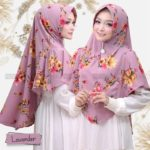 Jilbab Instan / Hijab Khimar Tsurayya with pad bubbleprint