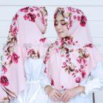Jilbab Instan / kerudung cantik / Hijab Khimar Aghnia with pad bubbleprint