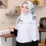 Jilbab instan / Khimar Mona Syar'i softpad bubbleprint